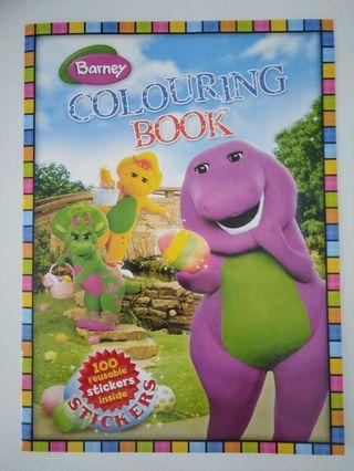 🚚 Barney Colouring & Sticker Book