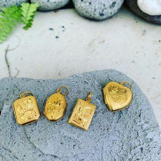 🚚 916 Gold Locket