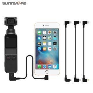 🚚 SUNNYLIFE OTG Data Cable Type C to Android Micro USB / Apple IPhone IOS lightning / Type-C for DJI OSMO POCKET