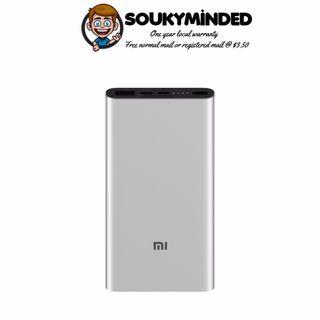 [IN-STOCK] Xiaomi Mi Power Bank 10000mAh Gen 3 (2019) Support USB-C Two-way 18W PD and Qualcomm QC3.0 Fast Charge Powerbank (Silver)