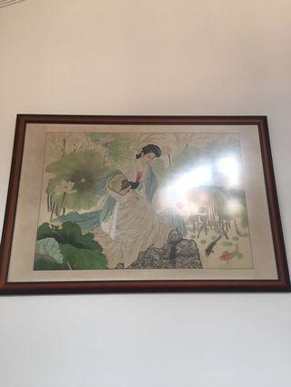 Wall Frame with art piece