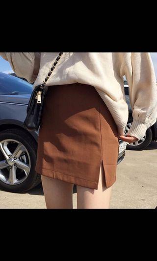High waist A-lin skirt
