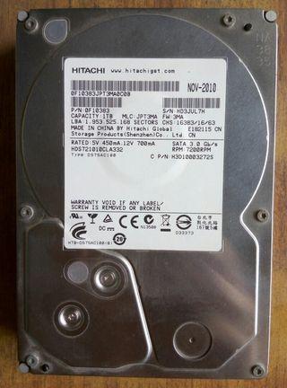 Hitachi 1tb 3.5 inch HDD