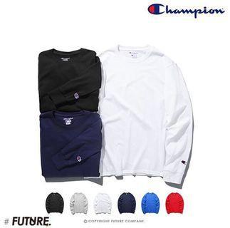 🚚 全新 Champion 素面螺紋長袖T/長袖上衣