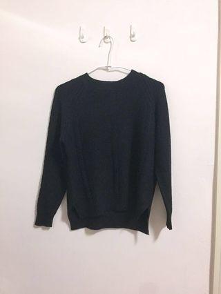 🚚 黑色親膚針織上衣/針織毛衣