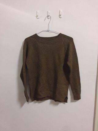 🚚 墨綠色親膚針織上衣/針織毛衣 全新