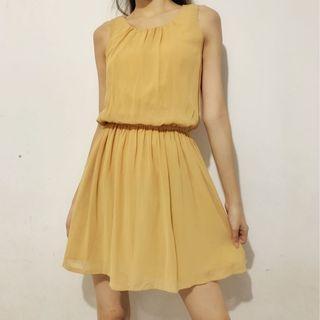 Chiffon skin tone dress