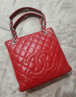 🚚 Chanel Red PST Cavier Bag