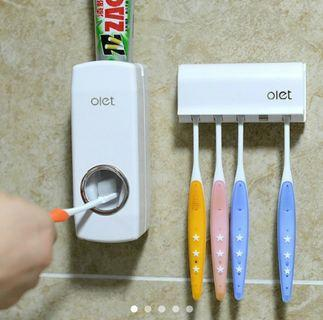 🚚 OLET Automatic Toothpaste Dispenser and Toothbrush Rack