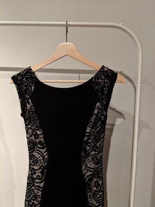 Black Lace Bodycon Dress Size XS 2/4