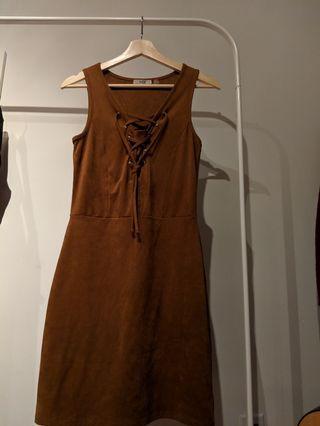 Dex Suede Bodycon Dress Size S