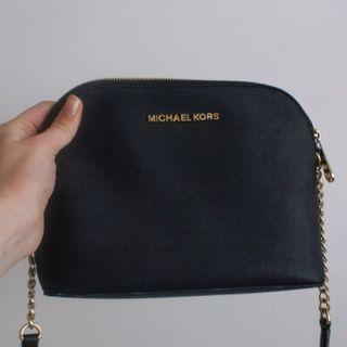 Michael Kors Small Black Leather Crossbody Purse