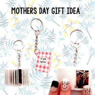 Mothers day gift idea mini photo notebook keychains