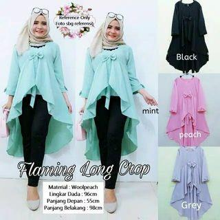 Bluse flaming long