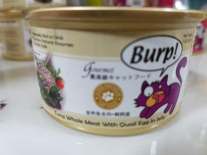 🐱 Burp! Canned Cat Wet Food (Tuna Whole Meat with Quail Egg in Jelly) x 10 🐱
