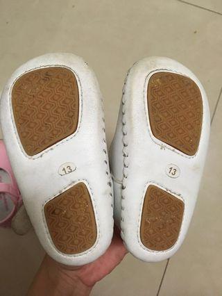 金安德森真皮學步鞋2雙(二手)