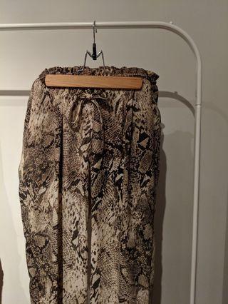 Dex Snakeskin Print Pant with Drawstring Size S