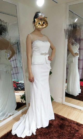 2019 Spring  new arrival elegant wedding gown /evening gown