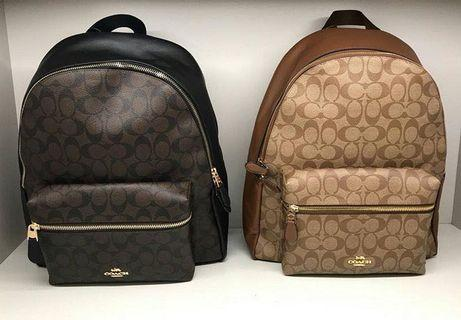 100% Authentic Coach Charlie Bagpack
