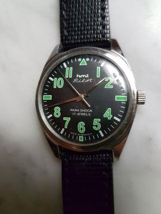 hmt Pilot 17J Hand Wind Men Watch(NOS).