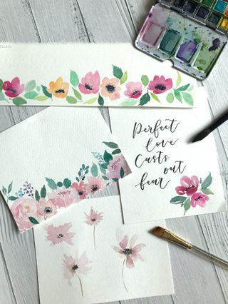 Private Watercolour & calligraphy Classes