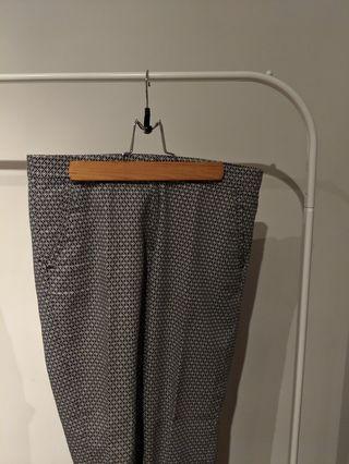 H&M Patterned Dress Pants Size 6