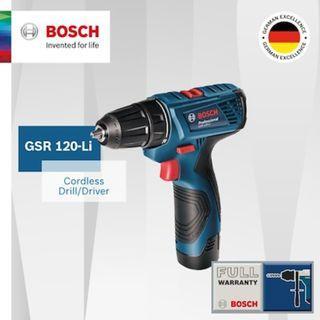 [Bosch][Official E-Store] Bosch GSR 120 Li Cordless 12V Drill Driver NEW MODEL 2017