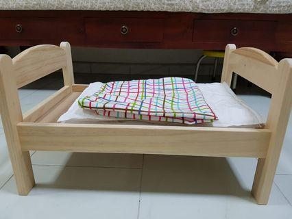 🛏️ IKEA DUKTIG Doll's Bed with Bedlinen Set (Pine) 🛏️