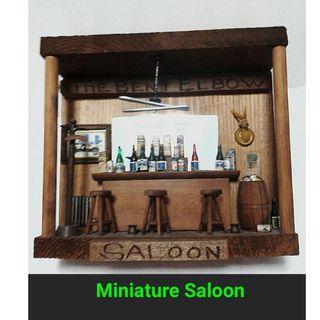 Vintage Rustic Miniature Wood Saloon Decor