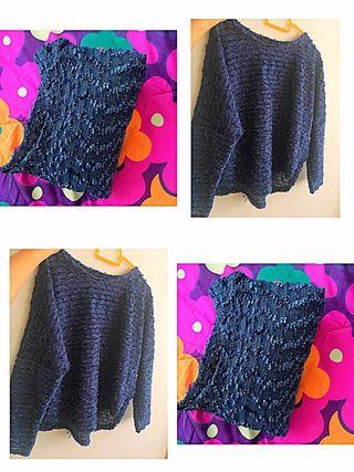Knit Top with shining surface