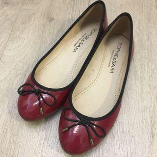 9成新 Sam&Sophie 紅色平底鞋