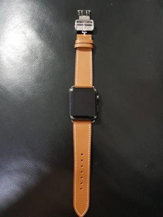 🚚 Deployant Leather Strap for Apple Watch 42mm