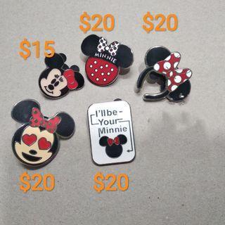 迪士尼襟章 Minnie 米妮 $85@5
