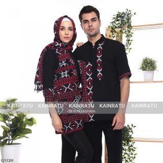 Couple Tenun Motif Toraja