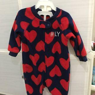 Sleep suit baby girl heart