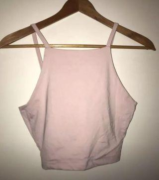 Kookai pink crop top