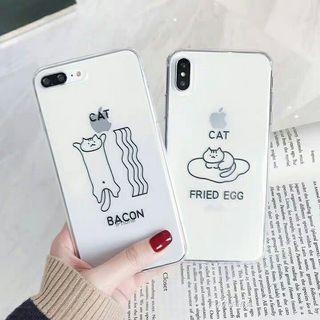 簡約貓貓軟膠電話殼
