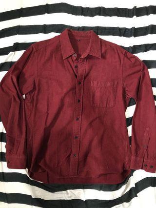 MUJI Flanel Shirt Red