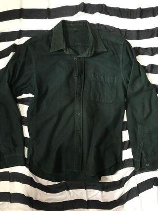 MUJI Flanel Shirt Green