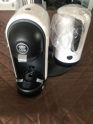 Lavazza Coffee Maker and milk frother