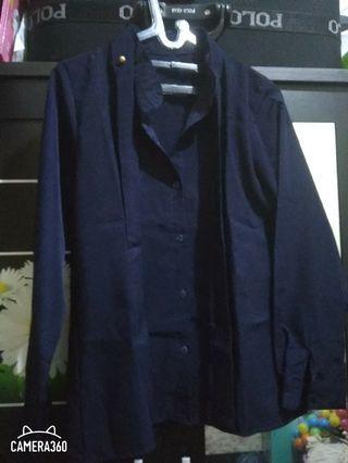 Kemeja biru navy #maujam