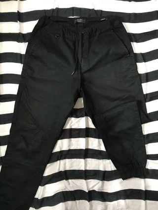 BERSHKA Men's Jogger Pants Black