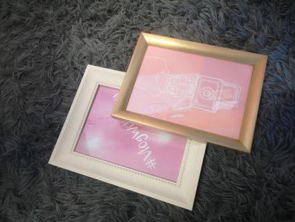 🚚 2pc Picture Frame Set. White and Gold.