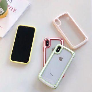 iPhoneXS,XsMax,XR,X,8,7,6系列 防摔邊框手機殼(四款)