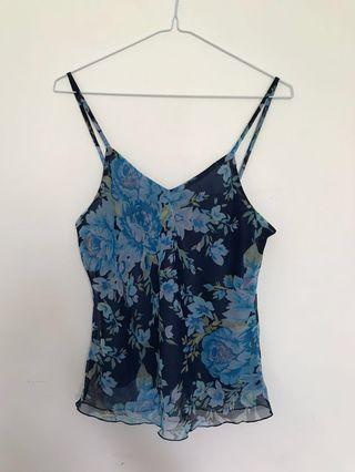 Floral cami tank top Size XS-S