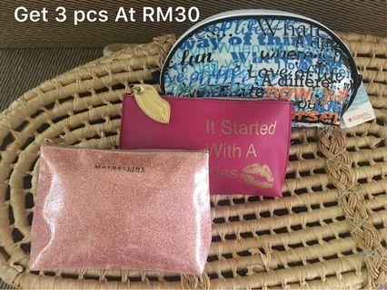 Ready stock: Buy 3 at RM30 various countries Outlet pouch
