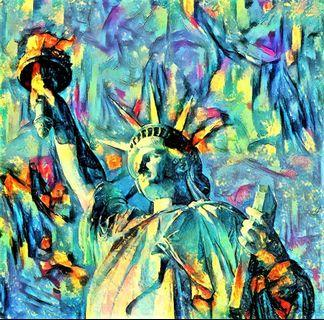 🚚 Statue of Liberty New York Oil Painting Canvas Art Print