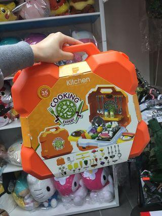 不鏽鋼廚房玩具套裝 (連膠盒)