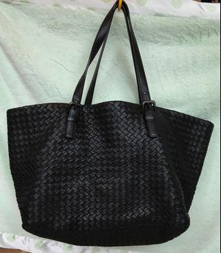 Bottega Veneta cabat 經典黑色托特包