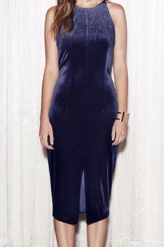 Sheike navy velvet dress size 6